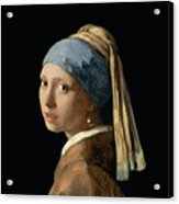 Girl With A Pearl Earring Acrylic Print