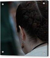 Girl With Braided Hair Acrylic Print