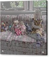 Girl With Dolls Acrylic Print