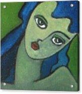 Girl With Green Eye Acrylic Print
