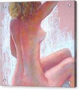 Girl With Green Hair Acrylic Print