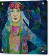 Girl With Kaleidoscope Eyes Acrylic Print