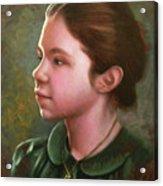 Girl With Locket Acrylic Print