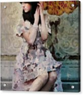 Girl With Parasol Acrylic Print by Elena Nosyreva