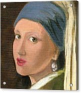 Girl With Pearl Earring Of Vermeer Acrylic Print