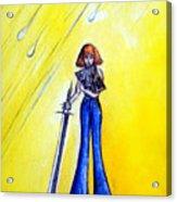 Girl With Sword. Astral Traveler Acrylic Print