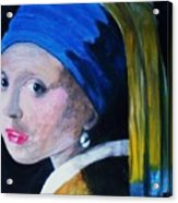 Girl With The Pearl Earring  Acrylic Print