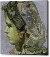 Girl With Yellow Earring Gwye2 Acrylic Print