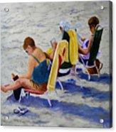 Girls Day At  The Beach Acrylic Print