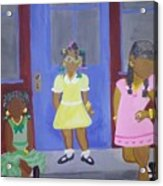 Girl's Dreaming Of Being Women Acrylic Print
