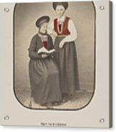 Girls From Kvinherred Acrylic Print
