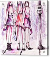 Girls Night Out Acrylic Print