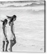 Girls On Beach Acrylic Print