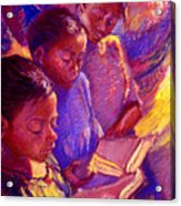Girls Reading Acrylic Print