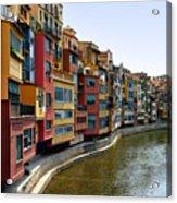 Girona Riverfront Acrylic Print