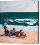 Girsl On The Beach Acrylic Print