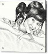 Gita Gutawa Young Singer From Indonesia Acrylic Print