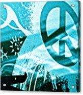 Give Peace A Shirt Acrylic Print by Chuck Taylor