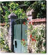 Giverny Gate Acrylic Print