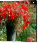 Giverny Poppies Acrylic Print