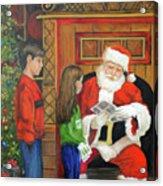 Giving The List To Santa Acrylic Print