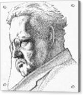 Gk Chesterton Acrylic Print