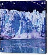 Glacier - Calving - Reflection Acrylic Print