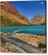 Glacier Cracker Lake Acrylic Print