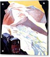 Glacier De Bionnassay, Railway, France Acrylic Print