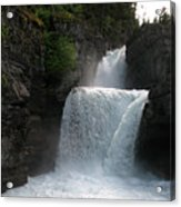 Glacier Falls Acrylic Print