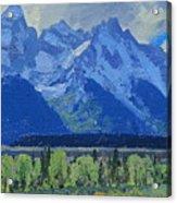 Glacier Gulch Acrylic Print