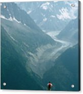 Glacier In Chamonix Acrylic Print