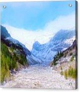 A Glacier In Mt. Rainier Acrylic Print