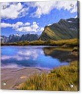 Glacier Lake On The Milford Track Acrylic Print
