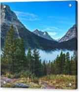 Glacier Mountains Acrylic Print by Stuart Deacon