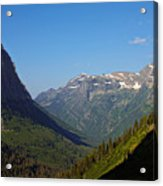 Glacier National Park Mt - View From Going To The Sun Road Acrylic Print
