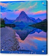 Glacier National Park Poster Acrylic Print