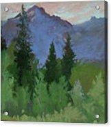 Glacier Nat'l Park - Plein Air -  Rising Wolf Ranch Acrylic Print