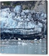 Glacier With Kayakers Acrylic Print