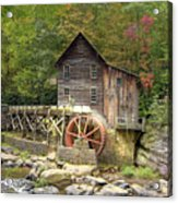 Glade Creek Grist Mill 2 Acrylic Print