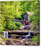 Glade Creek Grist Mill 3 - Paint Acrylic Print