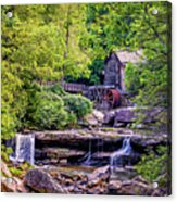 Glade Creek Grist Mill 3 Acrylic Print