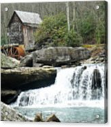 Glade Creek Grist Mill In Color Acrylic Print