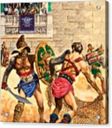 Gladiators Acrylic Print