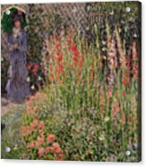 Gladioli Acrylic Print by Claude Monet