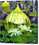 Glass Among The Lilies Acrylic Print