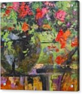 Glass And Flowers Acrylic Print