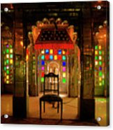 Glass And Mirror Room City Palace Udaipur Acrylic Print