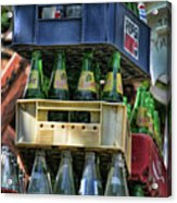 Glass Bottles Soft Drinks  Acrylic Print