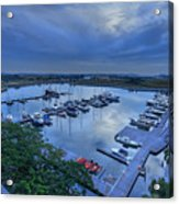 glass Harbour Acrylic Print by Mario Legaspi